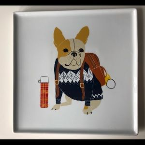 "French Bulldog 9"" Square Plate Pearson West Elm"